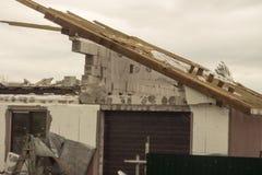 Żniwa tornado Białoruś Obrazy Royalty Free
