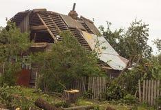 Żniwa tornado Białoruś Obraz Royalty Free