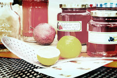 Żniwo czas - domowej roboty jabłczana galareta Obrazy Royalty Free