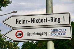 Nixdorf AG de Wincor de la adquisición de la compañía estadounidense Diebold Foto de archivo libre de regalías