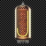 Nixie管有信件的显示器灯 向量例证