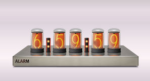 Nixie modern clock royalty free stock images