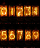 Nixie Numbers Stock Image
