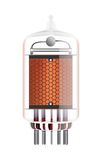 Nixie tube indicator. Nixie tube indicator on a white background. Transparency guaranteed. Vector illustration Stock Images