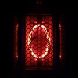 Nixie tubki wskaźnik liczba retro styl (0) cyfr Fotografia Royalty Free