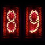 Nixie tubki wskaźnika retro styl Cyfra 8, 9 Obrazy Royalty Free
