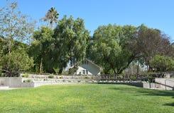 Nixon Birthplace and Library Grounds. YORBA LINDA, CALIFORNIA - FEBRUARY 24, 2017: Richard Nixon Birthplace and Library Grounds. The home was built by the future Stock Photos