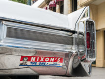 Nixon bumper sticker on a Cadillac Stock Photography