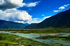Niyang flod Royaltyfria Bilder