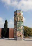 Nizami Gangevi的纪念碑 免版税库存图片