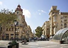 Nizami street in Baku. Azerbaijan Royalty Free Stock Photo