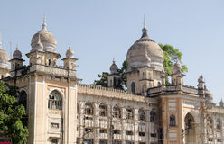 Nizamia Hospital, Hyderabad. View of the ornate facade of Nizamia Hospital in Hyderabad, Andhra Pradesh.  Built in Victorian times, the hospital still treats Stock Photography