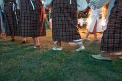 Nizhin Vitryssland - 6 Juni 2015, dans runt om branden, Arkivbild
