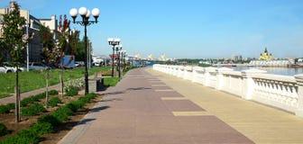 Nizhnevolzhskaya bulwar Nizhny Novgorod Obrazy Stock