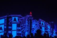 Nizhniy诺夫哥罗德州,俄罗斯- 2016年7月24日:电子音乐节日-法新社 库存图片