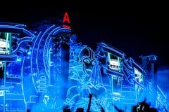 Nizhniy Новгород, Россия - 24-ое июля 2016: фестиваль электронной музыки - AFP стоковое фото rf