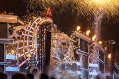Nizhniy Новгород, Россия - 24-ое июля 2016: фестиваль электронной музыки - AFP стоковые фото
