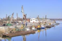 Nizhniy Novgorod 内河港 图库摄影