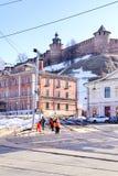 Nizhniy Novgorod 市政的横向 图库摄影