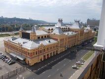 Nizhniy Novgorod Nizhegorodskaya Yarmarka Hoofdgebouw van nieuwe school dichtbij Bangkok, Thailand stock afbeeldingen