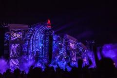 Nizhniy Novgorod, Rússia - 24 de julho de 2016: festival de música eletrônica - AFP foto de stock