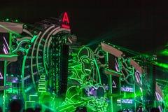 Nizhniy Novgorod, Rússia - 24 de julho de 2016: festival de música eletrônica - AFP fotografia de stock royalty free