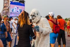 Nizhniy Novgorod Rosja, Lipiec, - 24, 2016: elektroniczny festiwal muzyki - AFP obraz royalty free