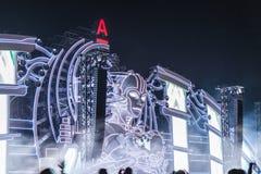 Nizhniy Novgorod Rosja, Lipiec, - 24, 2016: elektroniczny festiwal muzyki - AFP zdjęcia stock