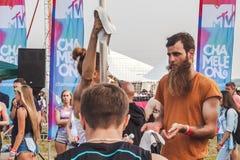 Nizhniy Novgorod, Rusia - 24 de julio de 2016: festival de música electrónica - AFP fotos de archivo