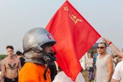 Nizhniy Novgorod, Rusland - Juli 24, 2016: elektronisch muziekfestival - AFP stock fotografie