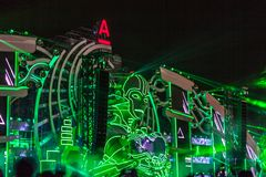 Nizhniy Novgorod, Russia - July 24, 2016: electronic music festival - AFP royalty free stock photography