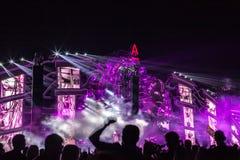 Nizhniy Novgorod, Russia - July 24, 2016: electronic music festival - AFP royalty free stock image
