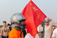 Nizhniy Novgorod, Russia - July 24, 2016: electronic music festival - AFP stock photography