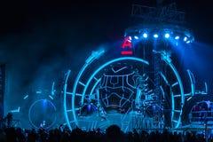 Nizhniy Novgorod, Russia - 19 luglio 2015: festival di musica elettronico - AFP fotografia stock libera da diritti
