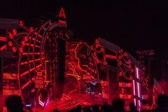 Nizhniy Novgorod, Russia - 24 luglio 2016: festival di musica elettronico - AFP fotografie stock libere da diritti