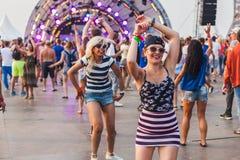 Nizhniy Novgorod, Russie - 24 juillet 2016 : festival de musique électronique - AFP image stock