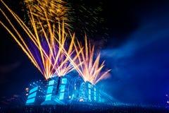 Nizhniy Novgorod, Ryssland - Juli 24, 2016: festival för elektronisk musik - AFP arkivbilder
