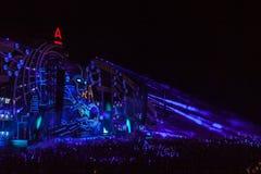 Nizhniy Novgorod, Ryssland - Juli 24, 2016: festival för elektronisk musik - AFP royaltyfria foton