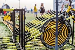 Nizhniy Novgorod, Ryssland - Juli 24, 2016: festival för elektronisk musik - AFP royaltyfri foto