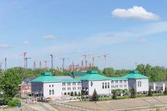 Nizhny Novgorod俄国 - 5月19日 2016年 体育场的建筑在世界杯足球赛的下诺夫哥罗德2018年 图库摄影