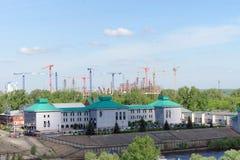 Nizhny Novgorod俄国 - 5月19日 2016年 体育场的建筑在世界杯足球赛的下诺夫哥罗德2018年 库存照片
