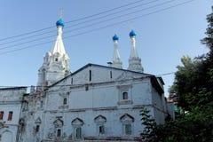Nizhny Novgorod俄国 - 9月13日 2017年 下诺夫哥罗德神学院 免版税库存图片