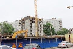 Nizhny Novgorod俄国 - 9月06日 2017年 住宅复杂议院的建筑被找出的自由的 图库摄影