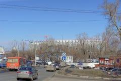 Nizhny Novgorod俄国 - 3月14日 2017年 体育场的建筑在世界杯足球赛的下诺夫哥罗德2018年 库存照片