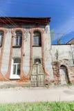 Nizhny Novgorod俄国 - 6月30日 2016年 在街道Nizhegorodskaya 9上的砖房子 库存图片