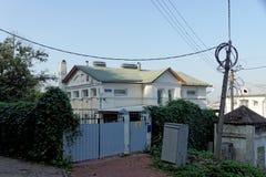 Nizhny Novgorod俄国 - 9月13日 2017年 车道的Melnichnaya 7住宅私有石二层楼的房子 免版税库存照片