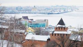 Nizhny Novgorod克里姆林宫,俄国 免版税库存照片