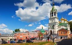 Nizhny Novgorod历史记录区。 俄国 图库摄影