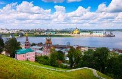 Nizhny Novgorod有历史的地区。 俄国 库存照片