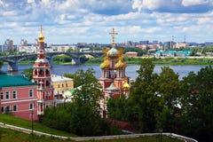 Nizhny Novgorod有历史的地区  免版税库存照片
